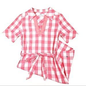 Vineyard Vines Pink Checkered Dress